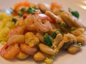 Shrimp with Butter Beans Couscous
