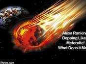 Alexa Ranking Dropping Like Meteroite Earth