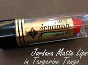Review Swatches: Jordana Matte Lipstick Tangerine Tango