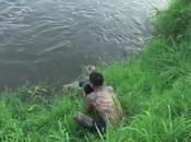 This Crazy Photographer Almost Gets Eaten Crocodile