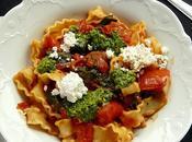 Pasta with Tomato, Spinach Pesto