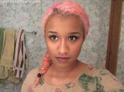 Dark/black Hair Pastel Pink