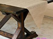 Make Burlap Table Runner