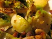 """Shaved Brussels Sprouts Brown """"Butter"""" Pistachio Sauce"""