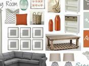Beachy Living Room with Grays Orange!!!