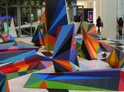 Colorful Optical Illusion Sculptures Matt Moore