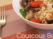Couscous Salad with Roasted Cherry Tomatoes Mushroom