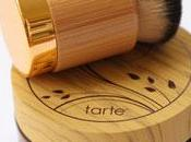 Airbrushing With Powder?!?! Yes, Please! Tarte's Amazonian Clay Full Coverage Airbrush Powder Foundation Airbuki Bamboo Brush