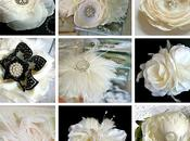 Ivory Bridal Hair Flowers