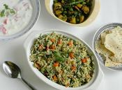 Spinach Carrot Pulao Palak Pulav Onion Garlic Recipe
