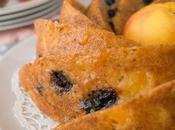 Peach Bundt Cake with Blueberries, Lemon Greek Yogurt #bundtamonth