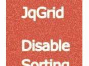 Disable Sorting JqGrid