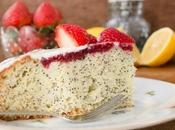 Lemon Poppy Seed Cake with Strawberries Cream Cheese Frosting