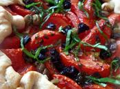 Goat's Cheese, Tomato Olive Tart