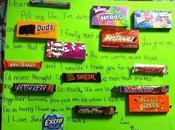 Day: Love Letter Made with Candy Wrappers