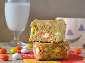 Candy Corn M&M Blondies