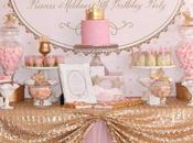 Gold Pink Princess Themed Birthday Party Couture Event Styling
