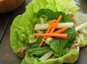 Pork Lettuce Wrap with Yogurt Pomegranate Sauce