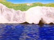 Painting Cliffs, Samos Greece