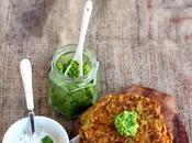 Spicy Gluten-free Pumpkin Pancakes Green Chutney Mint Raita