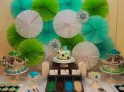 Super Cute Polkadot Blue, Green Chocolate Baby Shower Memories Sweet