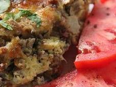 Wonders: Italian Sausage, Zucchini, Bell Pepper Bread Pudding