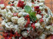 Sicilian Style Roasted Cauliflower Salad with Capers Peppers