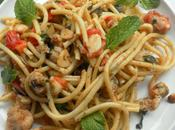 Bucatini Pasta with Monkfish Mint