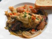 Cordon Bleu's Pintadeux Choux Stewed Cornish Hens with Polish Sausage Savoy Cabbage