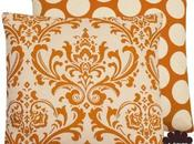 Orange Creamsicle Collection Boutique Square Lumbar Throw Pillow Cover Damask Polka Dots Cream Hues
