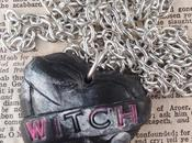 Witches Black Heart Long Necklace Ugly Shyla