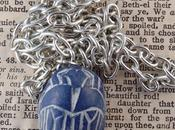 Small Blue Scarab Beetle Necklace Ugly Shyla