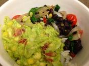 Spinach Black Bean Bowl with Guacamole