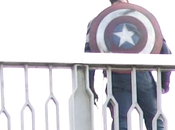 First Look Captain America Costume AVENGERS: ULTRON