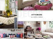 TREND: Ottomans Coffee Tables