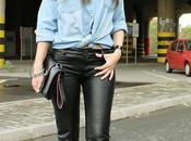 Wear Your Over-sized Shirt {Denim Leather}