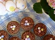 Easter Rocky Road Chocolate Nest Cupcakes