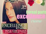 L'Oreal Paris Excellence Creme 3.16 Burgundy Before After