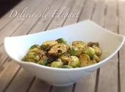 Baked Garlic Brussels Sprouts