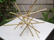"""Brass Starburst Sculpture """"for Reals"""""""