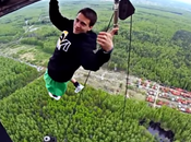 Insane Russians Doing Acrobatic Stunts Electrical Tower