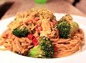 Thai Inspired Noodles with Peanut Sauce