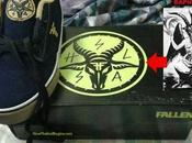 Shoes Teens with Satanic Baphomet Symbol