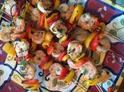 Coconut Lime Grilled Shrimp Skewers #SundaySupper