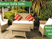 Weather Rattan Garden Sofa Sets