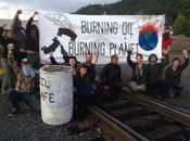 Climate Activists Blockade Terminal, Demand Halt Crude-by-Rail Traffic Pacific Northwest