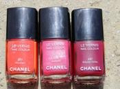 CHANEL Vernis Swatches Brights (Holiday, Marilyn, Rouge Fatal)
