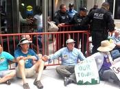 Anti-Fracking Activists Arrested FERC Sit-In Protest