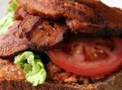 Guest Blogger: Cheeky-vegan Open Sandwich: Seitan 'Bacon', Lettuce Tomato with Sicilian White Bean Purée