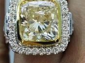 Fancy Yellow Cushion Engagement Ring Candy